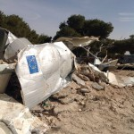 Dismatled ECHO shelter in the West Bank (Itay)