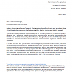 NGO letter calling on emission cuts in EU Agri 5-2016