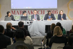 Pictures of the side event organised by ACT during the COP22