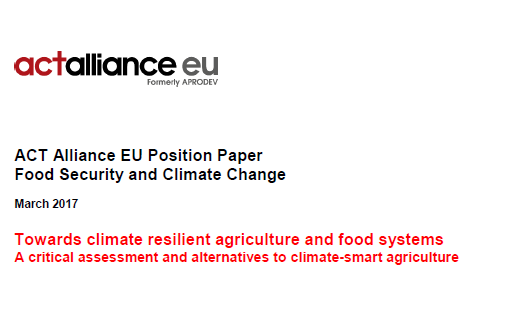 food secuirty and climate change